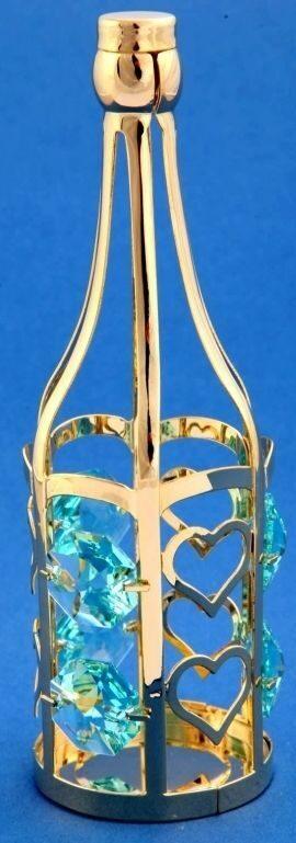 Фигурка с кристаллами сваровски Бутылка шампанского