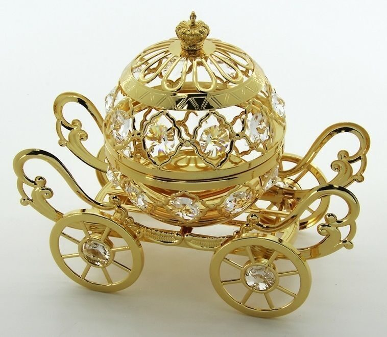 Фигурка конфетница со стразами  Swarovski  Золотая карета
