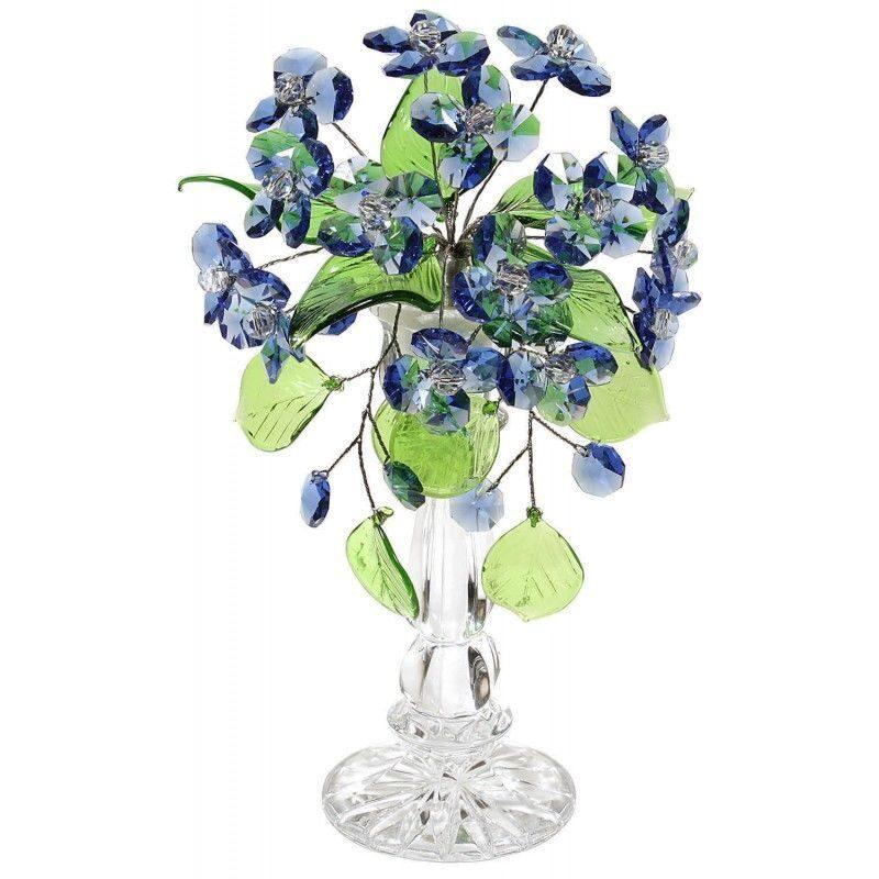 Цветочная композиция из хрусталя Букет васильков