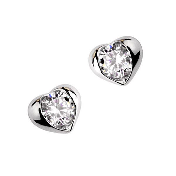 Серьги с кристаллами сваровски Ледяное сердце