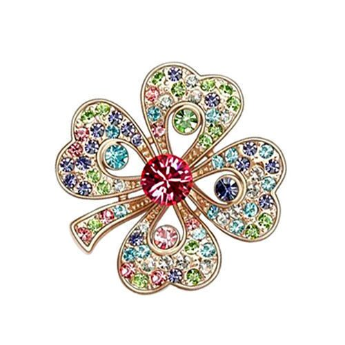 Брошь с кристаллами Swarovski Цветок