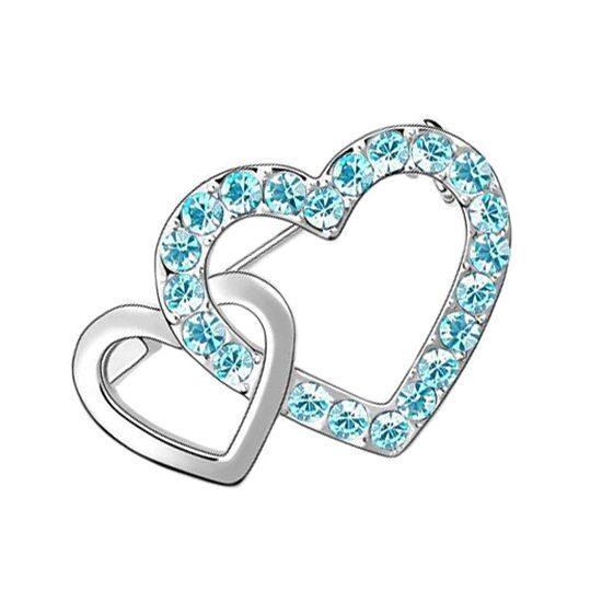 Брошь с кристаллами Swarovski Сердце