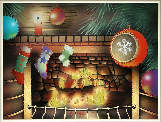 Картина с кристаллами Swarovski  Подарок к Рождеству