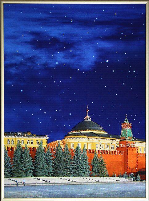 Картина с кристаллами Swarovski Красная площадь 3