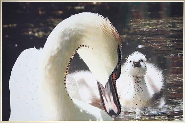 Картина с кристаллами Swarovski  Сердце матери-2