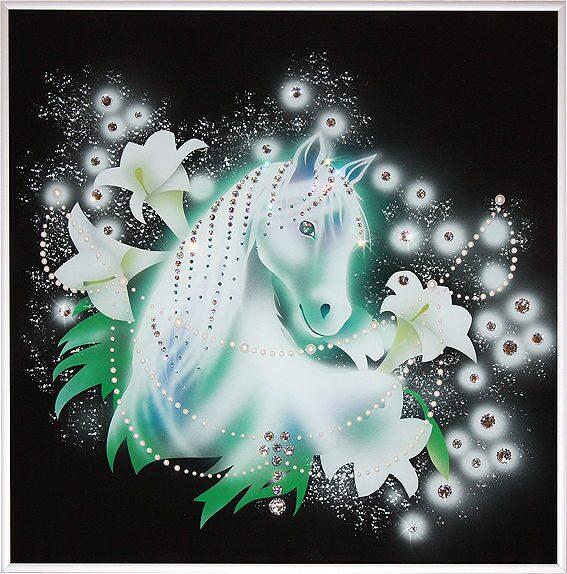 Картина с кристаллами Swarovski  Королевский конь