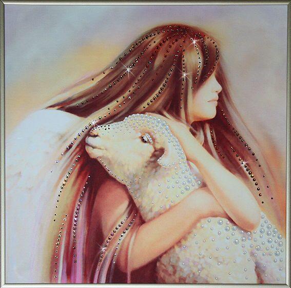 Картина с кристаллами сваровски Любовь ангела