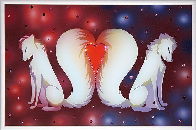 Картина с кристаллами Swarovski Вечная любовь