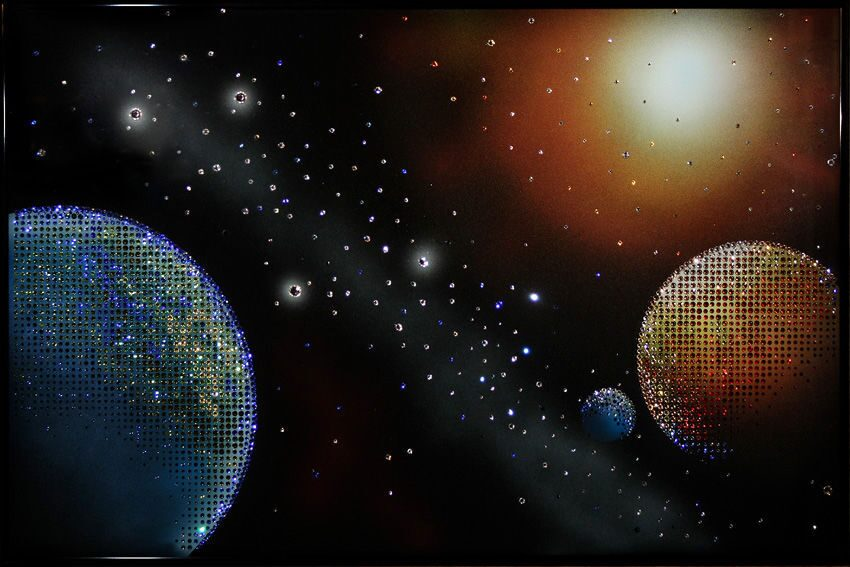 Картина с кристаллами Swarovski  Космос
