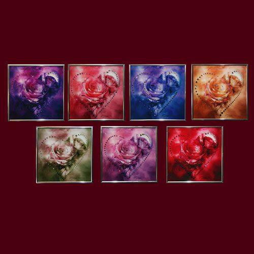 Картина с кристаллами Swarovski Сердечки