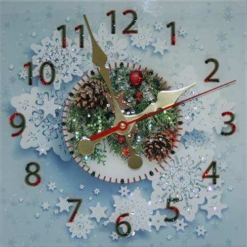 Настенные часы сваровски Новогодние