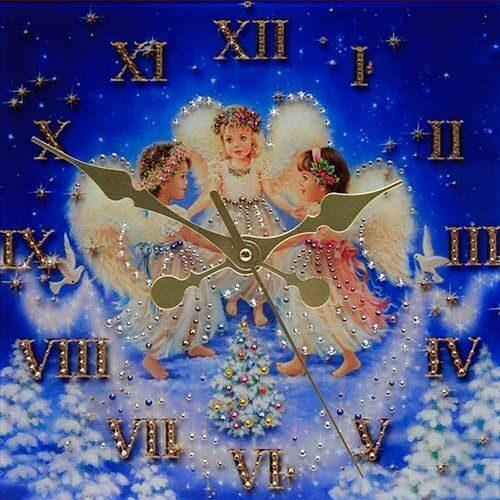 Настенные часы Swarovski Рождественские ангелы