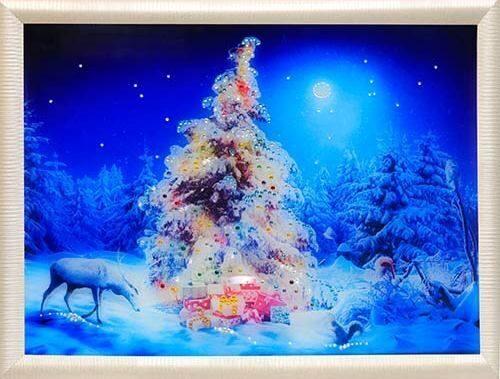 Картина сваровски Рождественский лес