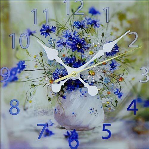 Настенные часы Swarovski Букет васильков