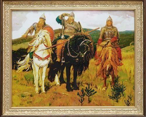 Картина с кристаллами сваровски Три богатыря