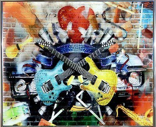 Картина Swarovski Гитары