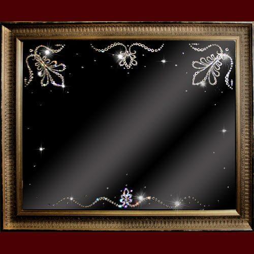 Настенное зеркало с кристаллами Swarovski Отражение блеска