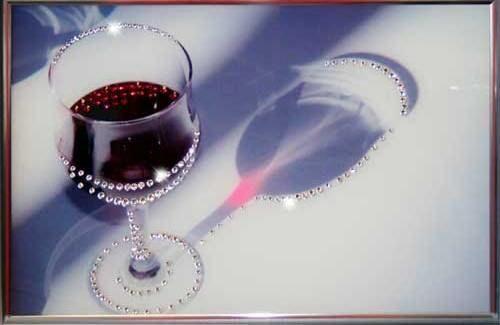Картина сваровски Бокал вина
