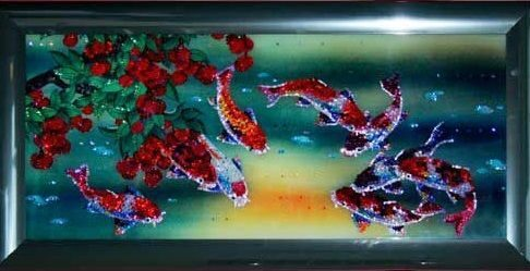 Картина  Swarovski Рыбы Тай