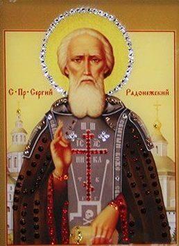 Икона  сваровски Сергий Радонежский