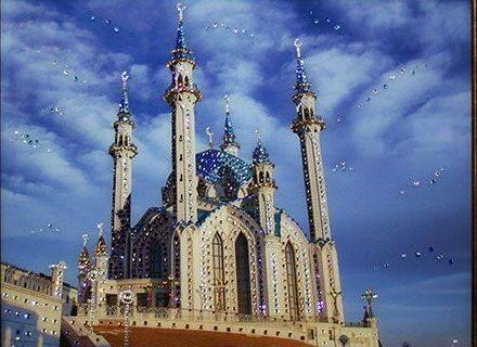 Картина  Swarovski Мечеть Кул-Шариф