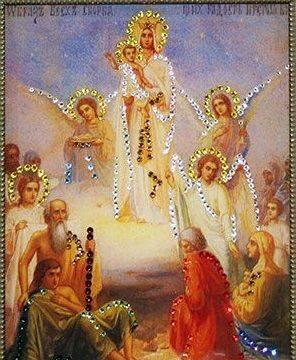 Икона  сваровскиВсех скорбящих радостей