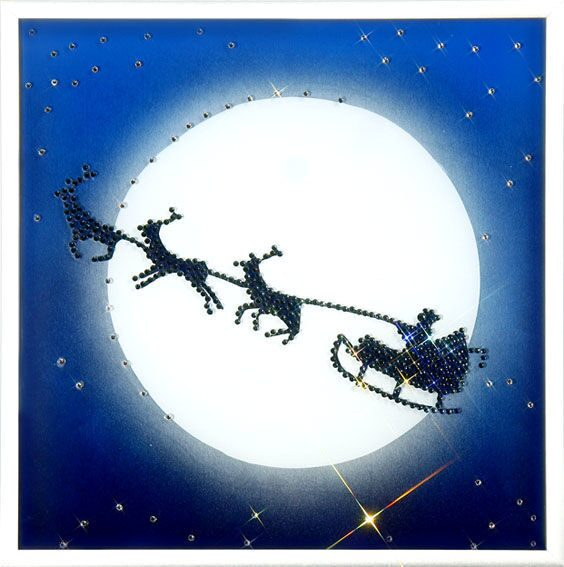 Картина с кристаллами Swarovski  Рождественская сказка