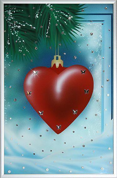 Картина с кристаллами Swarovski  С Новым годом