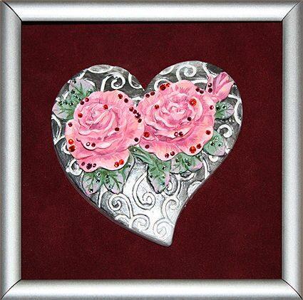Картина с кристаллами Swarovski Любовь в сердцах