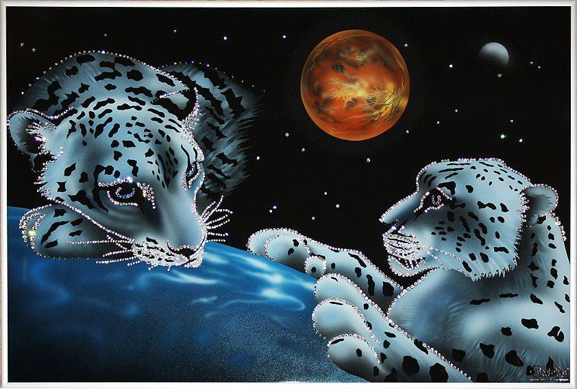 Картина с кристаллами Swarovski  Хранители мира