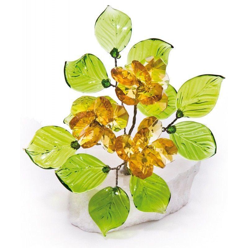 Букет цветов на мраморе Хрустальный янтарь