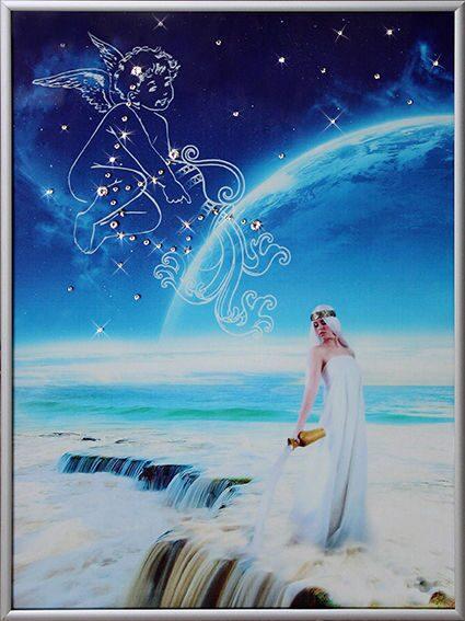 Картина  Swarovski Небесный водолей