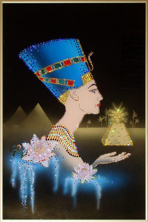 Картина с кристаллами Swarovski  Нефертити