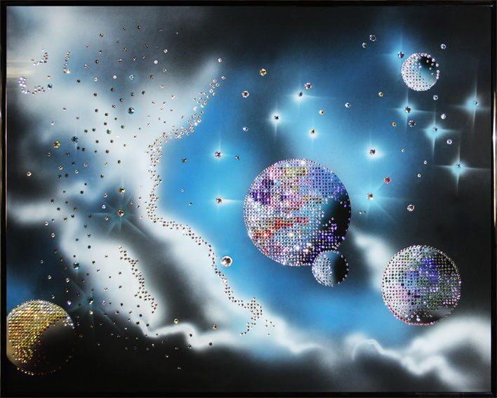 Картина с кристаллами Swarovski  Космическая феерия