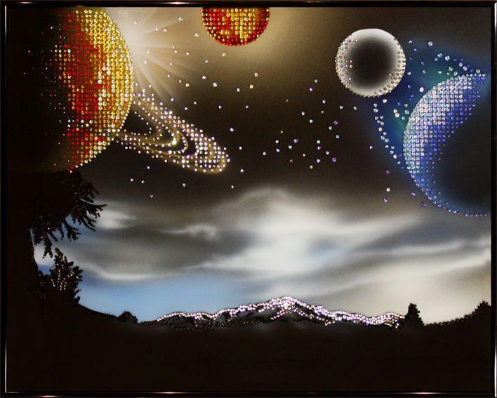 Картина с кристаллами Swarovski  Космическое фэнтези
