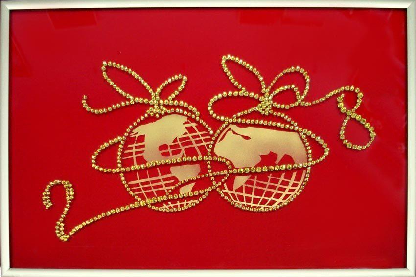 Картина с кристаллами Swarovski  С Новым Годом, Мир