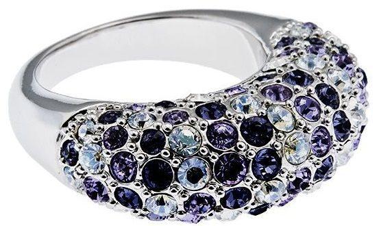 Кольцо с кристаллами сваровски  Дива
