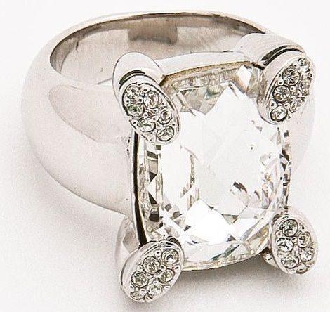 Кольцо с кристаллом  Swarovski  Мечта, классическая Багетта.