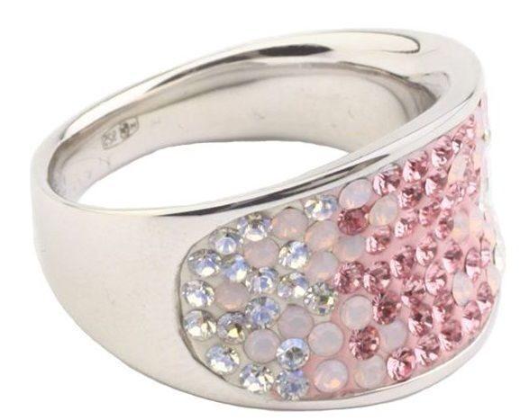 Серебряное кольцо с кристаллами Swarovski Конкав