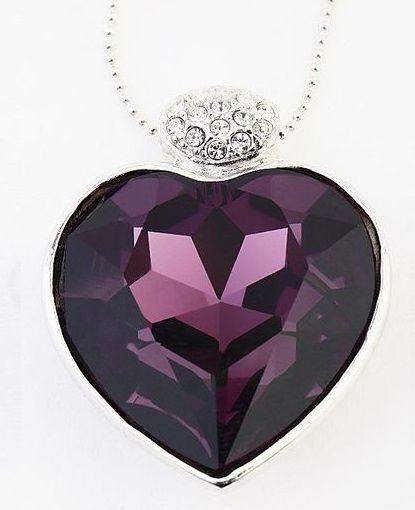 Подвеска с кристаллами Swarovski  Сердце большое.