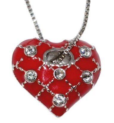 Подвеска с кристаллами Swarovski  Сердце Фаберже