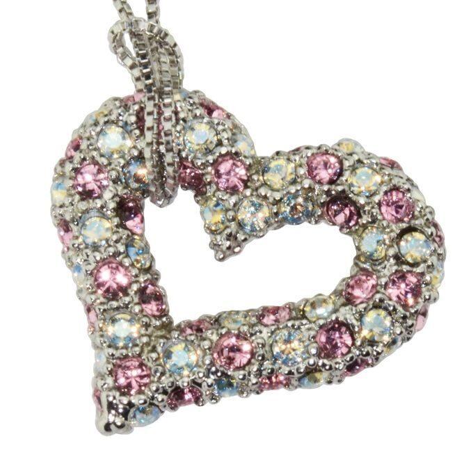 Подвеска с кристаллами Swarovski  Сердце Дивы, маленькое