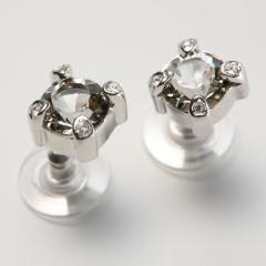 Гвоздики с кристаллами Swarovski  Уединение, большие.