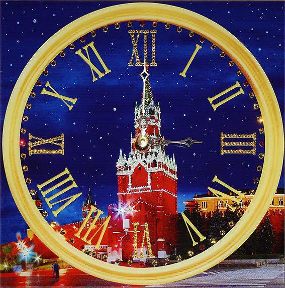 Настенные часы со стразами Swarovski Куранты-2