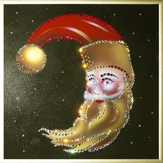 Картина с кристаллами Swarovski  Новогодний месяц