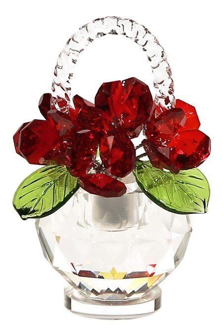Корзинка  Swarovski Красные розы