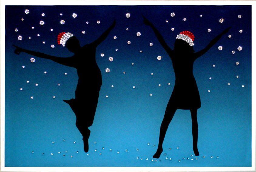 Картина с кристаллами Swarovski  Новогодняя фиеста
