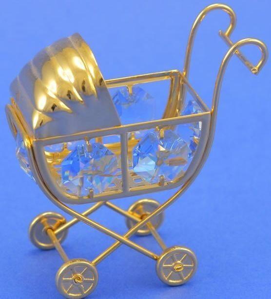 Фигурка с кристаллами Swarovski  Коляска