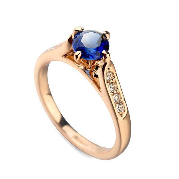 Кольцо с кристаллами Swarovski Синева