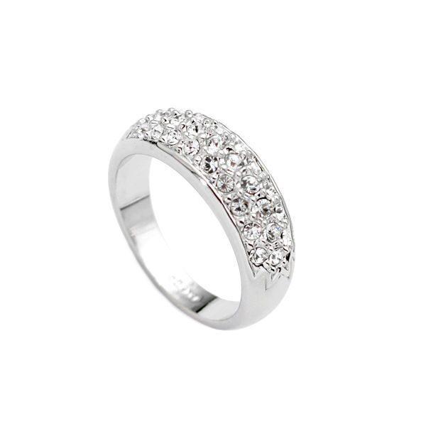 Кольцо с кристаллами Swarovski Светолика